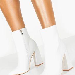 Flared Heel Sock Boots | Boohoo.com (US & CA)