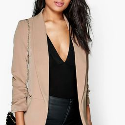 Ruched Sleeve Blazer | Boohoo.com (US & CA)