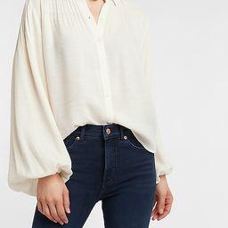 Pintuck Balloon Sleeve Shirt | Express