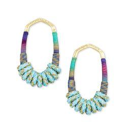 Masie Gold Open Frame Earrings in Mint Mix Paracord | Kendra Scott | Kendra Scott
