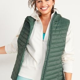Water-Resistant Narrow-Channel Puffer Vest for Women   Old Navy (US)