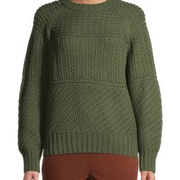 Time and Tru Women's Mixed Stitch Sweater | Walmart (US)