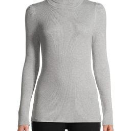 Time and Tru Women's Puff Shoulder Turtleneck Sweater | Walmart (US)