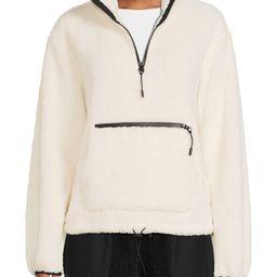 No Boundaries Juniors' Sherpa Mock Neck Half Zip Pullover | Walmart (US)