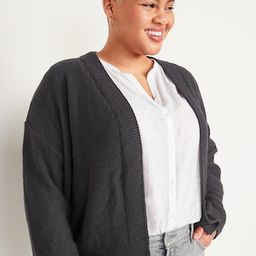 Slouchy Open-Front Cardigan Sweater for Women | Old Navy (US)