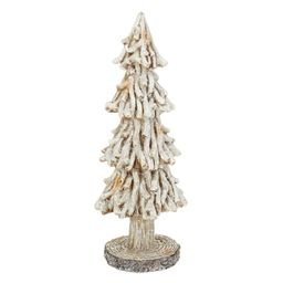"""Holiday Time Large White Poly Resin Pine Tree; Tabletop Christmas Decoration; 15.2""""H - Walmart.co... 