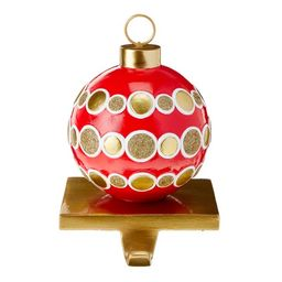 """Packed Party Red and Gold Ornament Stocking Holder, 6.7"""" - Walmart.com   Walmart (US)"""