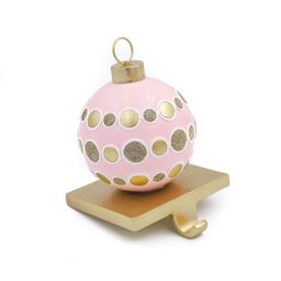 Packed Party Christmas Pink and Gold Ornament Stocking Holder, 6.7-Inch - Walmart.com   Walmart (US)