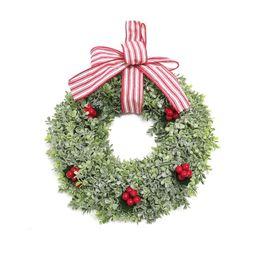 "Holiday Time Red Berry Boxwood 14"" Unlit Christmas Wreath - Walmart.com   Walmart (US)"