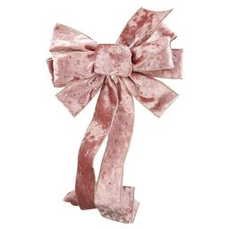 Holiday Time Grand Holiday Velvet Bow Tree Topper Decoration, Pink - Walmart.com   Walmart (US)