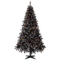 Holiday Time Pre-Lit Madison Pine Black Artificial Christmas Tree, Black,  6.5' - Walmart.com | Walmart (US)