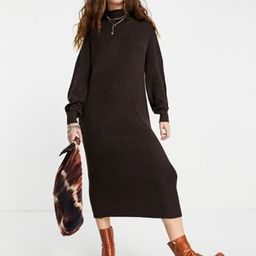 Only maxi knitted dress in chocolate brown   ASOS (Global)