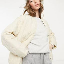 & Other Stories recycled quilted jacket in beige   ASOS (Global)