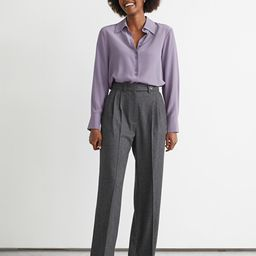 Straight Tweed Trousers   & Other Stories