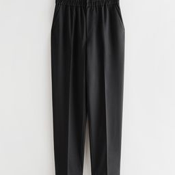 Tapered Elasticated Waistline Trousers   & Other Stories
