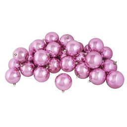 "12ct Shiny Bubblegum Pink Shatterproof Christmas Ball Ornaments 4"" (100mm) - Walmart.com   Walmart (US)"
