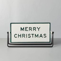 Reversible Holidays Tabletop Sign Green/Cream - Hearth & Hand™ with Magnolia | Target