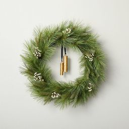 """24"""" Faux Needle Pine Plant Wreath with White Berries - Hearth & Hand™ with Magnolia 