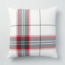 """24"""" x 24"""" Holiday Plaid Throw Pillow Red/Green - Hearth & Hand™ with Magnolia 