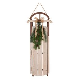 Glitzhome 38.00 in. H Wooden Sleigh Porch Sign-1103203404 - The Home Depot | The Home Depot