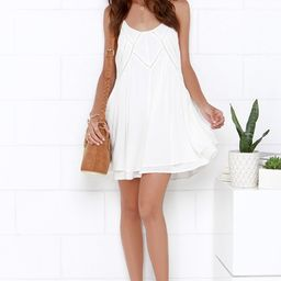 Easy Honey Ivory Slip Dress   Lulus (US)