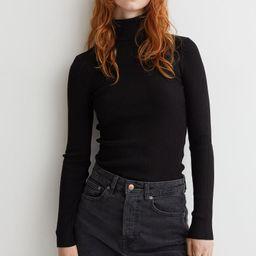 Rib-knit polo-neck jumper | H&M (UK, IE, MY, IN, SG, PH, TW, HK, KR)