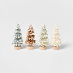 4pk Glitter Bottle Brush Christmas Tree Set - Wondershop™   Target