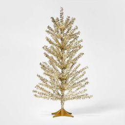 2ft Mini Unlit Tinsel Christmas Tree Champagne Gold - Wondershop™   Target