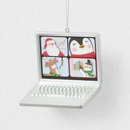 Laptop Zoom Meeting Christmas Tree Ornament - Wondershop™   Target