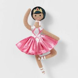 Ballerina with Pink Skirt & White Shoes Christmas Tree Ornament - Wondershop™   Target