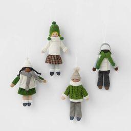 4pk Snowkids Christmas Tree Ornaments - Wondershop™   Target