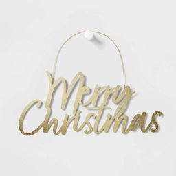 Merry Christmas Hanging Sign Gold - Wondershop™   Target