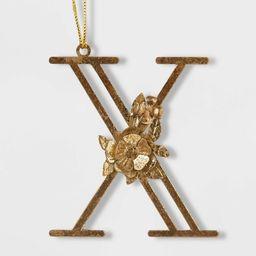 Botanical Monogram Christmas Tree Ornament Gold - Wondershop™   Target