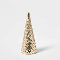 Small Art Deco Ceramic Tree Cone Decorative Figurine Silver - Wondershop™   Target