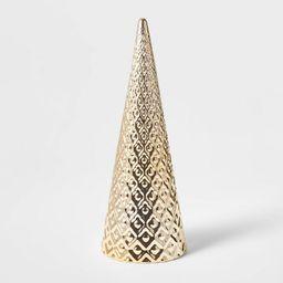 Large Art Deco Ceramic Tree Cone Decorative Figurine Silver - Wondershop™   Target