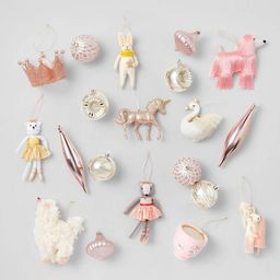 20pc Frosted Blush Christmas Ornament Kit - Wondershop™   Target
