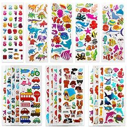 SAVITA 3D Stickers for Kids & Toddlers 500+ Puffy Stickers Variety Pack for Scrapbooking Bullet J...   Amazon (US)