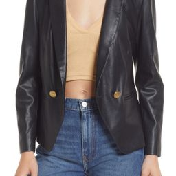 BB Dakota by Steve Madden Faux Leather Blazer, Size Large in Black at Nordstrom | Nordstrom