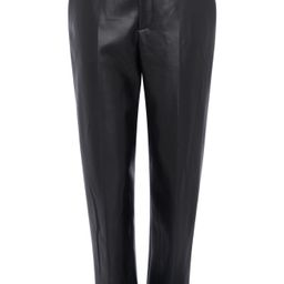 French Connection Crolenda Faux Leather Trousers, Size 8 in Black at Nordstrom | Nordstrom
