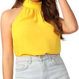 SweatyRocks Women's Elegant Sleeveless Halter Neck Blouse Shirt Top   Amazon (US)