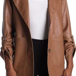 Faux Leather Blazer | Nordstrom Rack