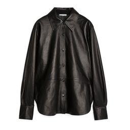 Leather Shirt - Black | ARKET