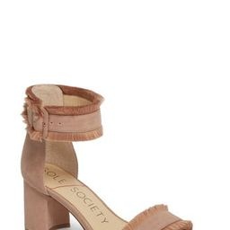Women's Sole Society Helgah Fringe Sandal, Size 5 M - Pink   Nordstrom
