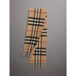 Burberry The Mini Classic Check Cashmere Scarf, Size: OS, Brown   Burberry (US)
