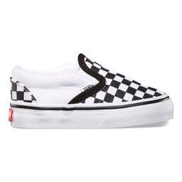 Vans Toddlers Checkerboard Slip-On (Black/True White)   Vans (US)