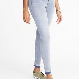 Old Navy Womens Mid-Rise Rockstar 24/7 Released-Hem Super Skinny Ankle Jeans For Women Light Wash Size 0 | Old Navy US