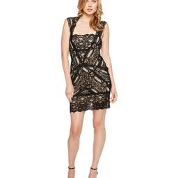 Nicole Miller - Stretch Lace Dress With Open Back Detail (Black) Women's Dress | Zappos