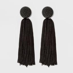 SUGARFIX by BaubleBar Beaded Studs Tassel Drop Earrings - Black, Women's, Size: Small | Target