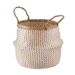 Seagrass Belly Basket Chevron | The Container Store