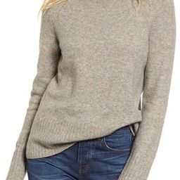 Women's Madewell Inland Rolled Turtleneck Sweater, Size Medium - Grey | Nordstrom